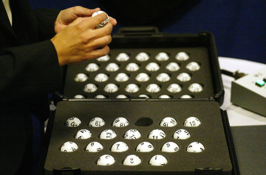 NHL Draft Lottery ping pong balls (Photo by Andy Marlin/Getty Images for NHLI)