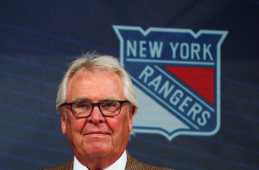 Glen Sather, New York Rangers (Photo by Bruce Bennett/Getty Images)