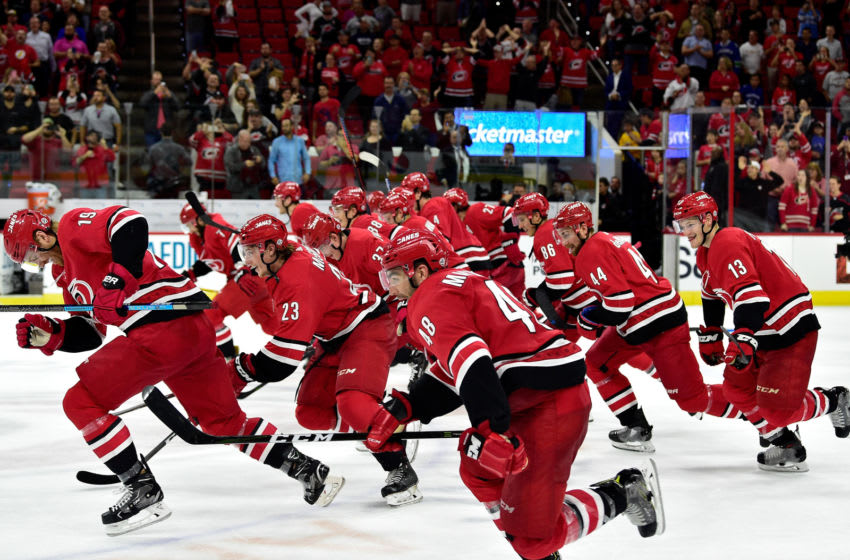 Carolina Hurricanes players (Photo by Grant Halverson/Getty Images)