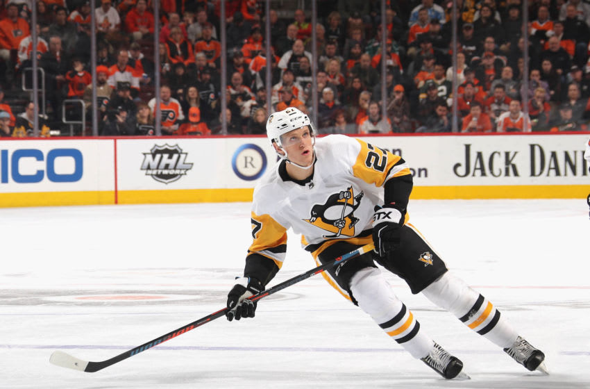 Nick Bjugstad #27 of the Pittsburgh Penguins (Photo by Bruce Bennett/Getty Images)
