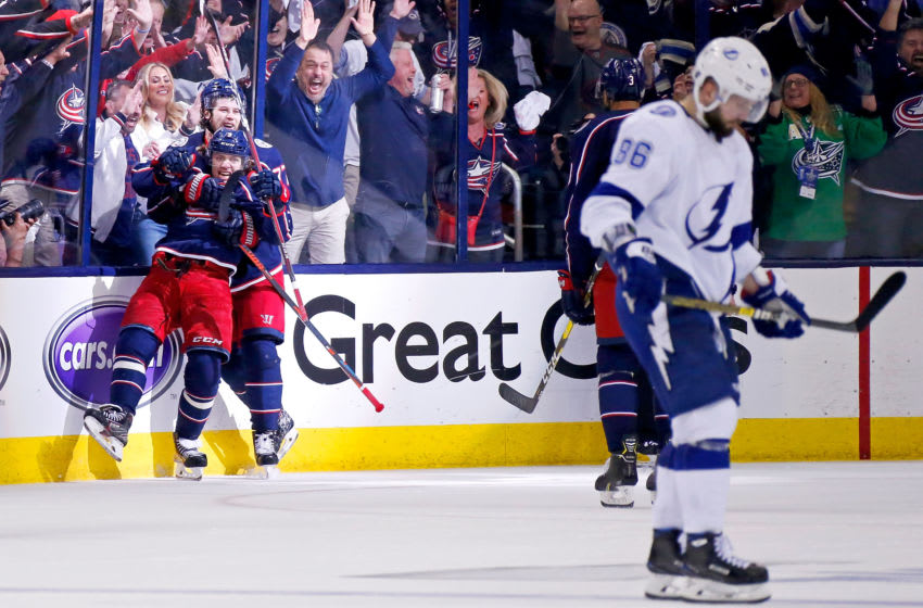 Columbus Blue Jackets and Tampa Bay Lightning (Photo by Kirk Irwin/Getty Images)