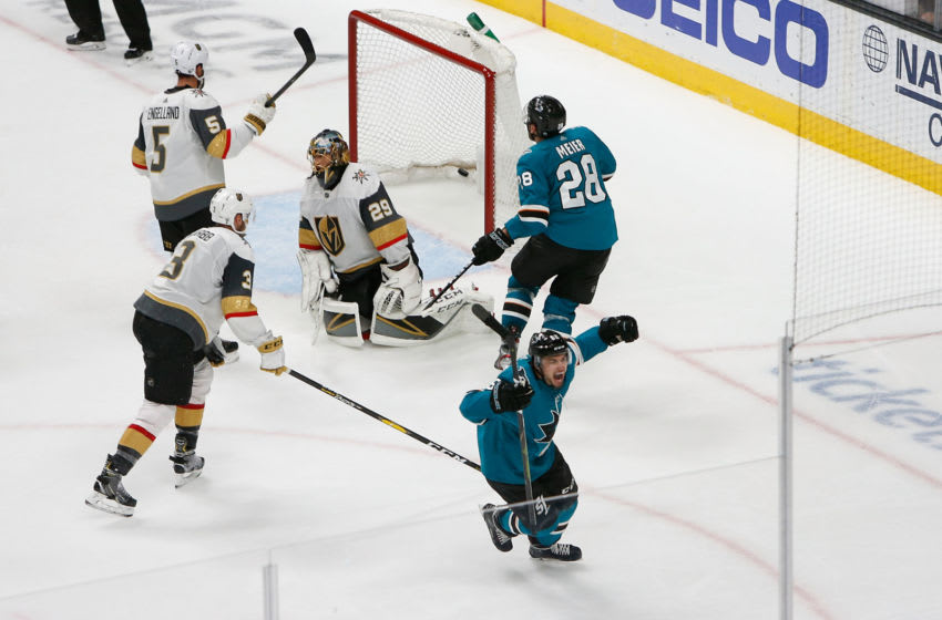 Kevin Labanc #62 of the San Jose Sharks (Photo by Lachlan Cunningham/Getty Images)