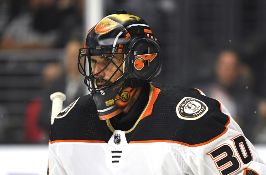 Ryan Miller #30 of the Anaheim Ducks (Photo by Harry How/Getty Images)