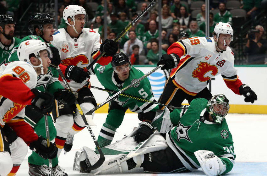 Dallas Stars and Calgary Flames (Photo by Ronald Martinez/Getty Images)