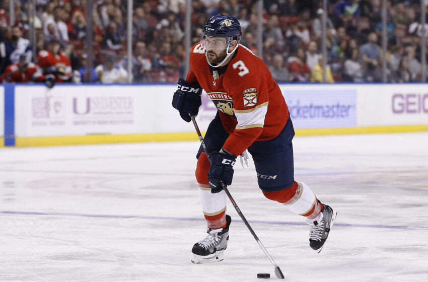 Keith Yandle #3 of the Florida Panthers. (Photo by Michael Reaves/Getty Images)