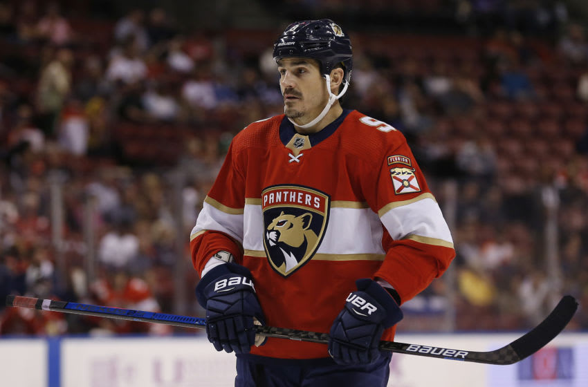 Brian Boyle #9 of the Florida Panthers. (Photo by Michael Reaves/Getty Images)