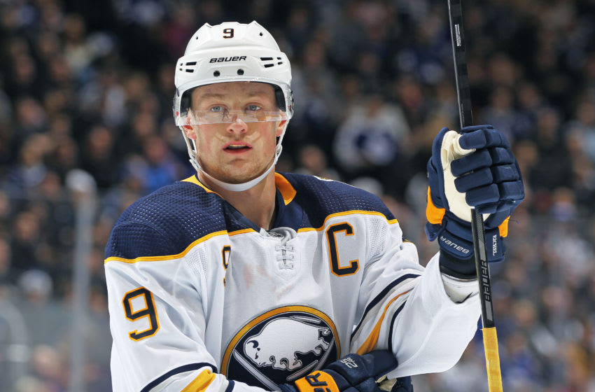 Jack Eichel #9 of the Buffalo Sabres (Photo by Claus Andersen/Getty Images)