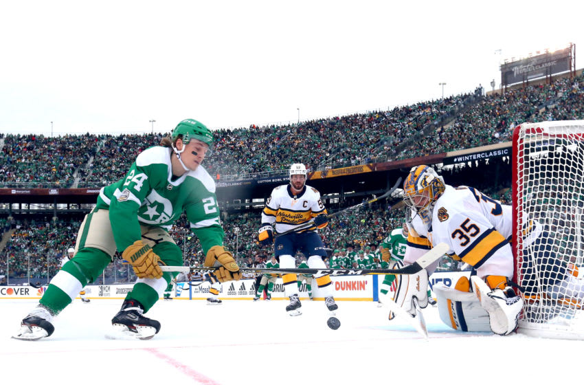 Roope Hintz #24 of the Dallas Stars. (Photo by Ronald Martinez/Getty Images)