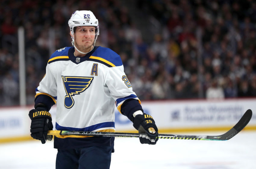 Alexander Steen #20 of the St Louis Blues. (Photo by Matthew Stockman/Getty Images)