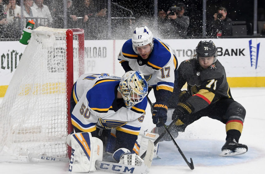 Jordan Binnington #50 of the St. Louis Blues (Photo by Ethan Miller/Getty Images)