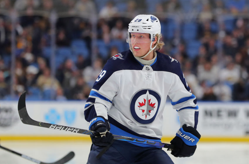 Patrik Laine #29 of the Winnipeg Jets (Photo by Timothy T Ludwig/Getty Images)