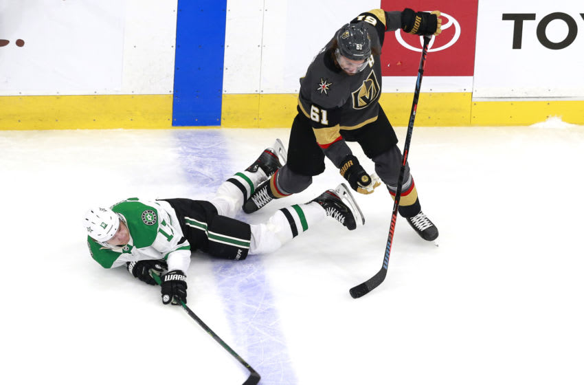 Mattias Janmark #13 of the Dallas Stars (Photo by Jeff Vinnick/Getty Images)