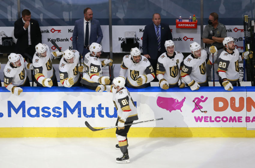 Jonathan Marchessault #81 of the Vegas Golden Knights (Photo by Jeff Vinnick/Getty Images)