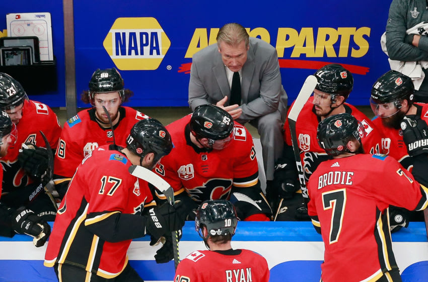 Head coach Geoff Ward of the Calgary Flames (Photo by Jeff Vinnick/Getty Images)