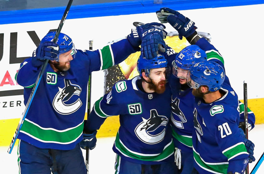 Tyler Motte #64 of the Vancouver Canucks (Photo by Jeff Vinnick/Getty Images)