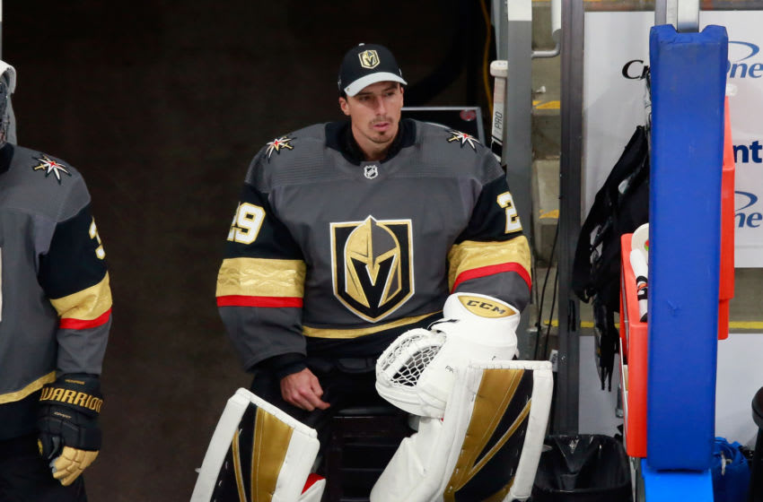 Marc-Andre Fleury #29 of the Vegas Golden Knights (Photo by Jeff Vinnick/Getty Images)