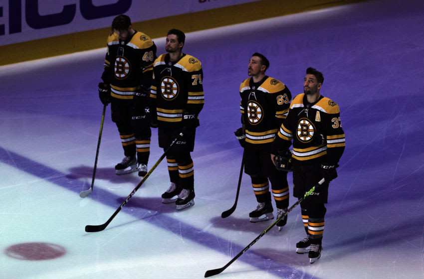 The Boston Bruins. (Photo by Elsa/Getty Images)