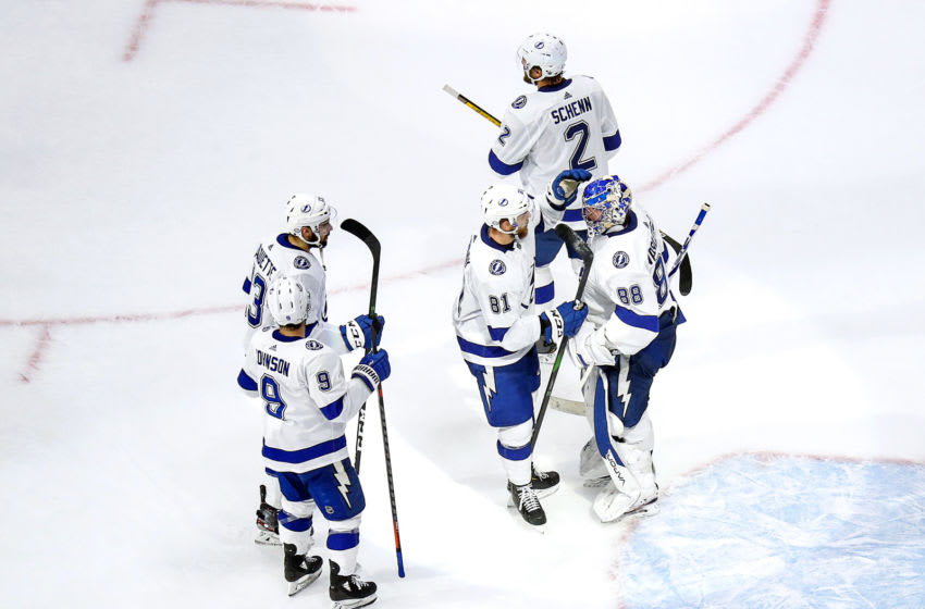 Andrei Vasilevskiy #88 and the Tampa Bay Lightning (Photo by Bruce Bennett/Getty Images)