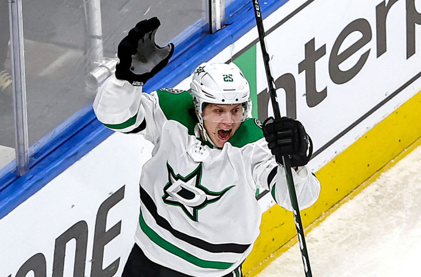 Joel Kiviranta #25 of the Dallas Stars (Photo by Bruce Bennett/Getty Images)