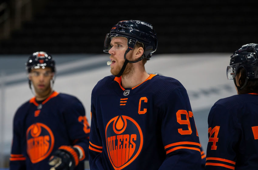 Connor McDavid #97 of the Edmonton Oilers. (Photo by Codie McLachlan/Getty Images)