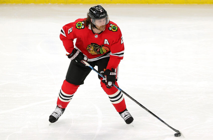 Duncan Keith #2 of the Chicago Blackhawks. (Photo by Stacy Revere/Getty Images)