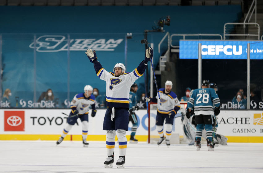 Marco Scandella #6 of the St. Louis Blues. (Photo by Ezra Shaw/Getty Images)