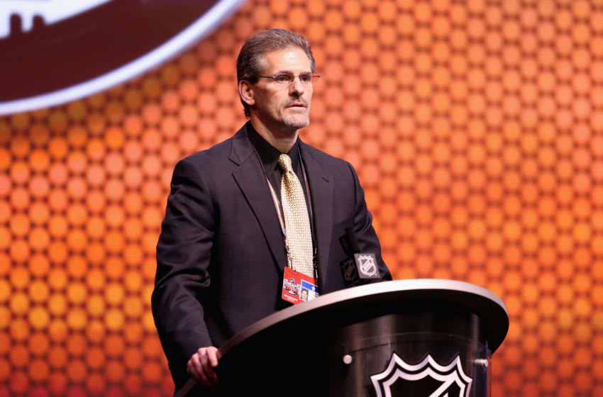 Ron Hextall, General Manager of the Philadelphia Flyers. (Photo by Mitchell Leff/Getty Images)
