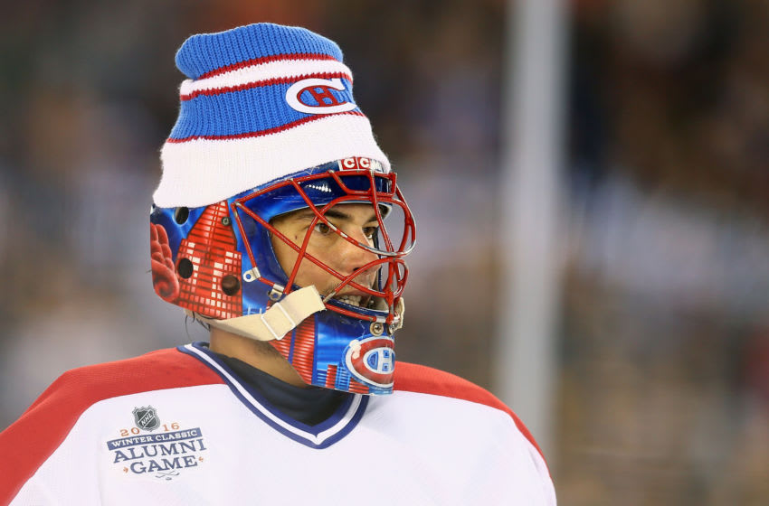 Jose Theodore #60 of the Montreal Canadiens goaltender Jose Theodore (Photo by Maddie Meyer/Getty Images)