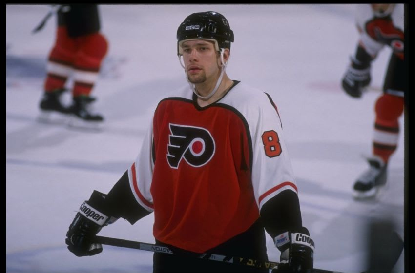 Shawn Antoski of the Philadelphia Flyers. Mandatory Credit: Rick Stewart /Allsport