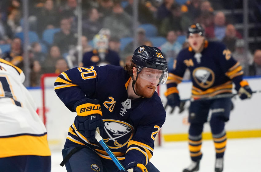 Scott Wilson #20 of the Buffalo Sabres (Photo by Kevin Hoffman/Getty Images)
