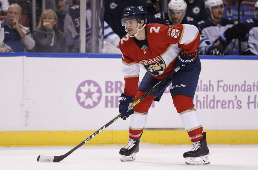 Josh Brown #2 of the Florida Panthers (Photo by Michael Reaves/Getty Images)