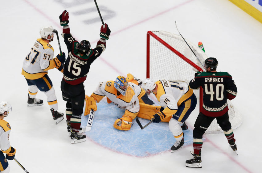 Richardson #15 of the Arizona Coyotes (Photo by Jeff Vinnick/Getty Images)