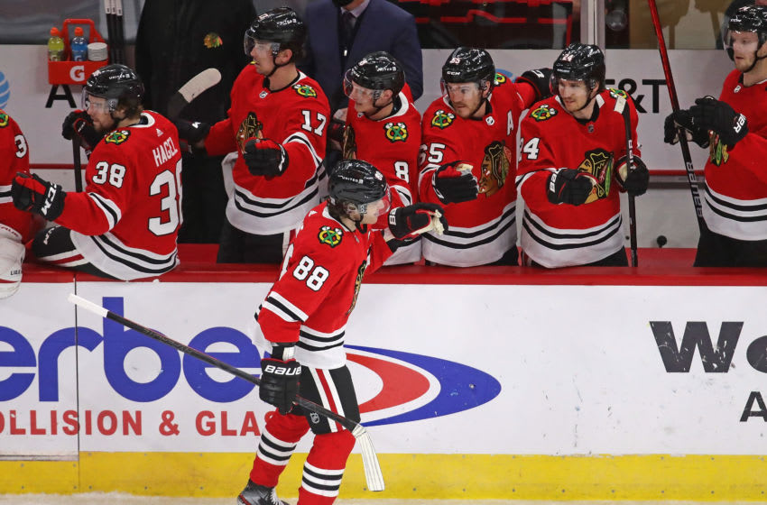 Patrick Kane #88 of the Chicago Blackhawks. (Photo by Jonathan Daniel/Getty Images)