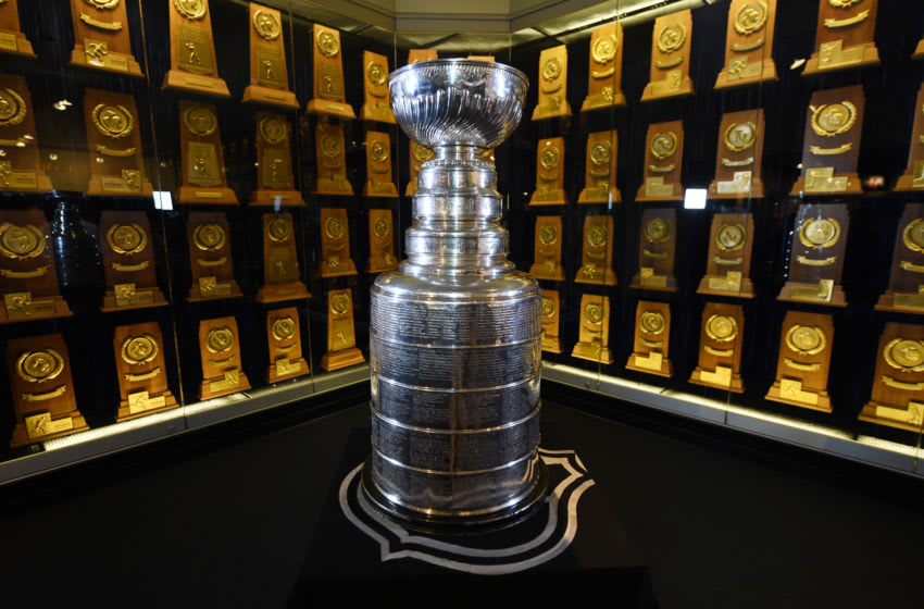 The Stanley Cup at the UCLA Hall of Fame (Photo by Adam Pantozzi/Andrew D. Bernstein Associates Photography, Inc. for AEG via Getty Images)