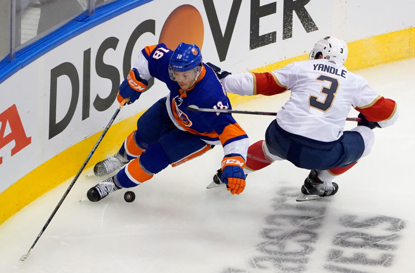 Anthony Beauvillier #18 of the New York Islanders (Photo by Andre Ringuette/Freestyle Photo/Getty Images)