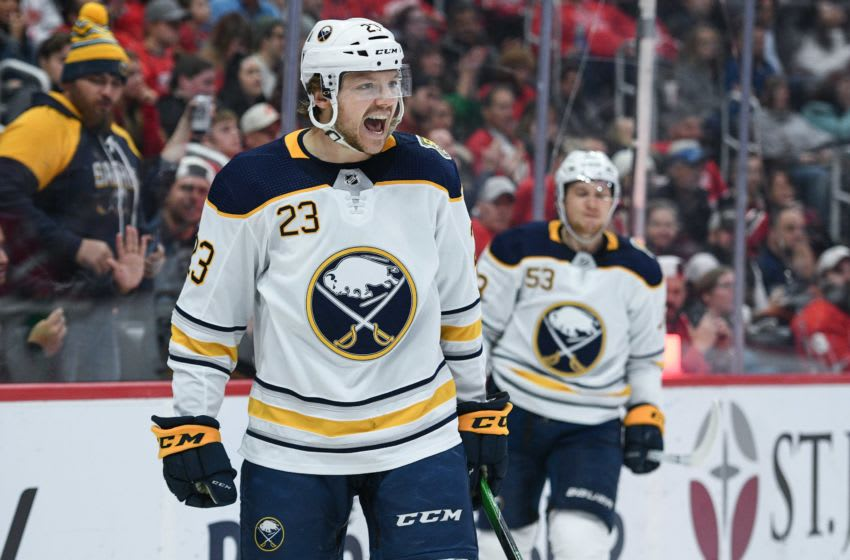 Buffalo Sabres center Sam Reinhart (Mandatory Credit: Tim Fuller-USA TODAY Sports)