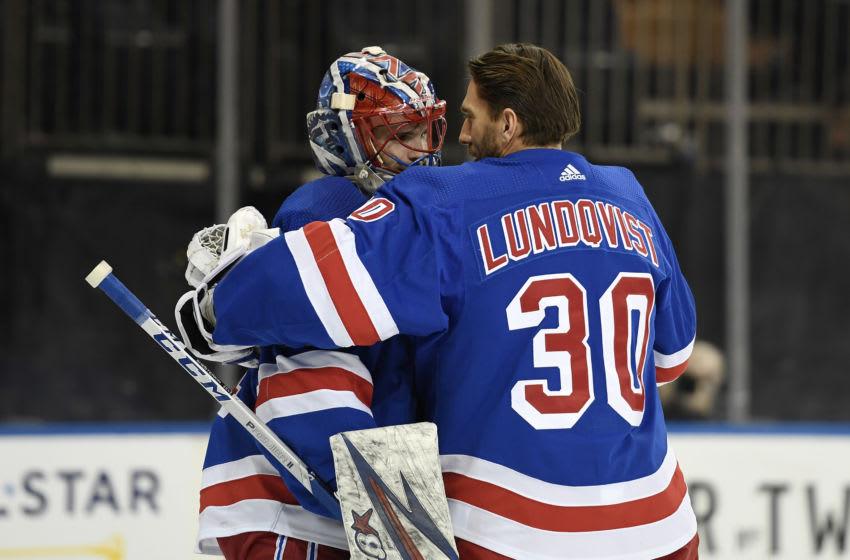 New York Rangers goaltender Henrik Lundqvist (30) Mandatory Credit: Sarah Stier-USA TODAY Sports