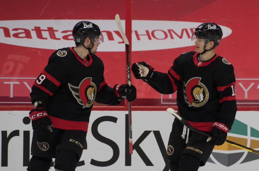 Ottawa Senators right wing Drake Batherson (19). Mandatory Credit: Marc DesRosiers-USA TODAY Sports