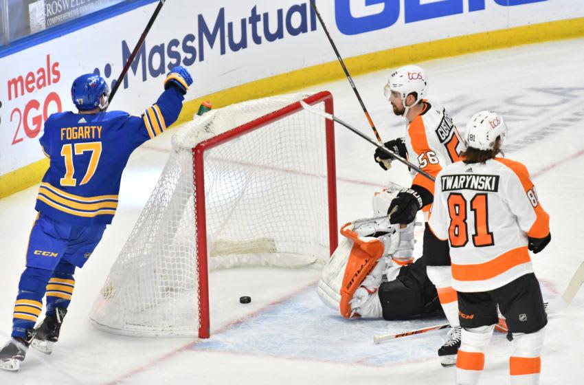 Buffalo Sabres center Steven Fogarty (17). Mandatory Credit: Mark Konezny-USA TODAY Sports