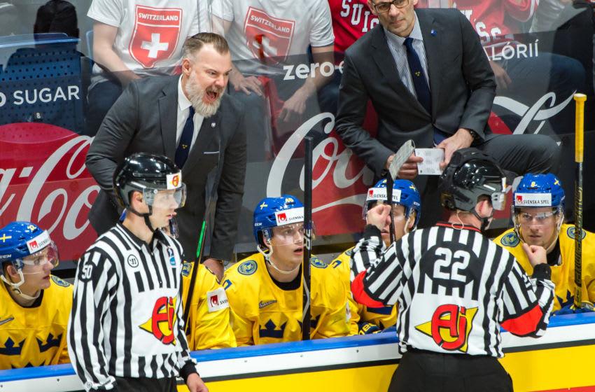 Head Coach Rikard Groenborg - Team Sweden (Photo by RvS.Media/Robert Hradil/Getty Images)