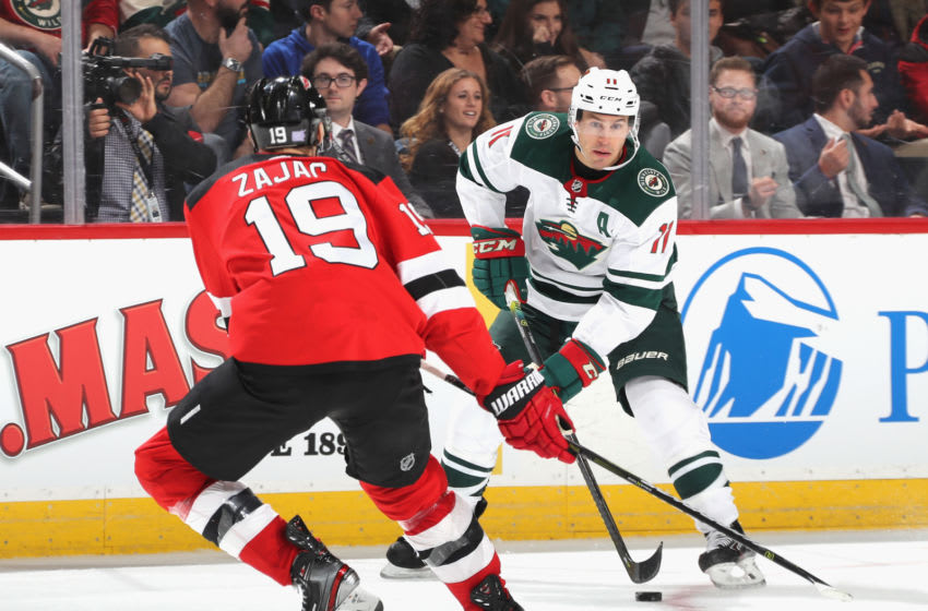 Zach Parise #11 of the Minnesota Wild (Photo by Bruce Bennett/Getty Images)