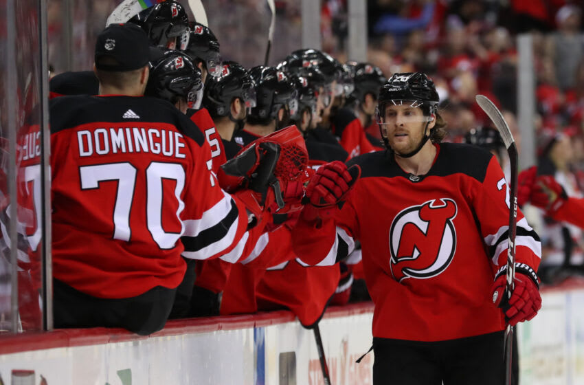 New Jersey Devils center Blake Coleman (20): (Ed Mulholland-USA TODAY Sports)
