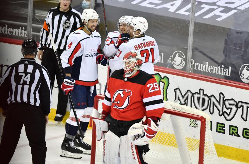 New Jersey Devils goaltender Mackenzie Blackwood: (Catalina Fragoso-USA TODAY Sports)
