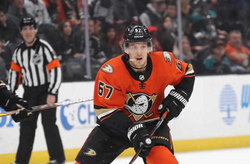 Rickard Rakell #67 of the Anaheim Ducks (Photo by Bruce Bennett/Getty Images)