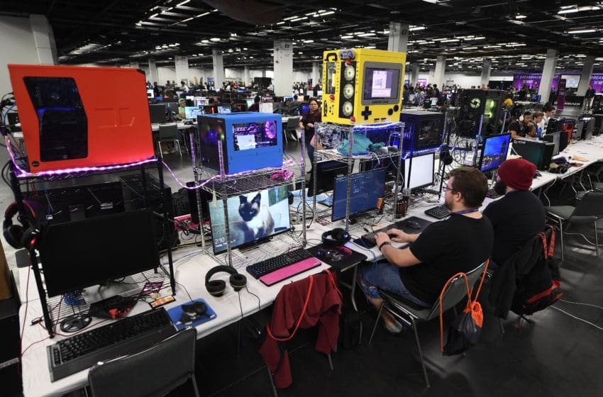 ANAHEIM, CA - FEBRUARY 21: Gamers using their own computers compete in DreamHack Anaheim 2020 at Anaheim Convention Center on February 21, 2020 in Anaheim, California. (Photo by Kevork Djansezian/Getty Images)