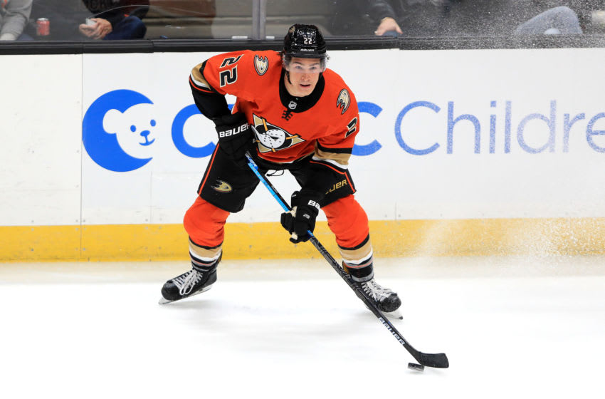 Sonny Milano #22 of the Anaheim Ducks (Photo by Sean M. Haffey/Getty Images)