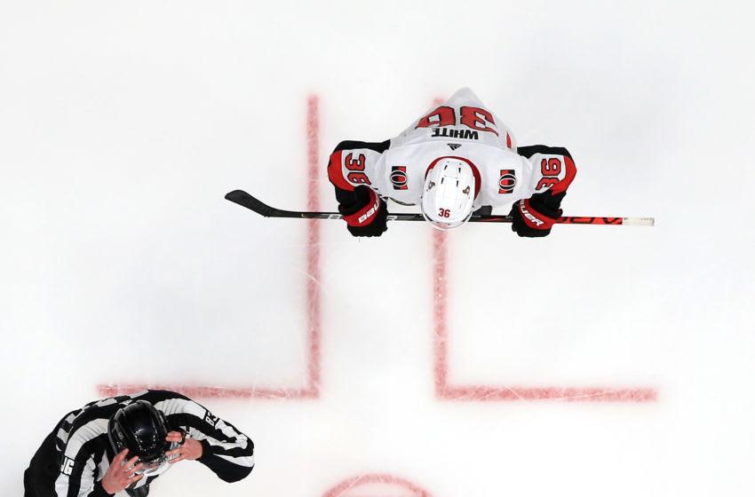 Sam Steel #34 of the Anaheim Ducks (Photo by Sean M. Haffey/Getty Images)