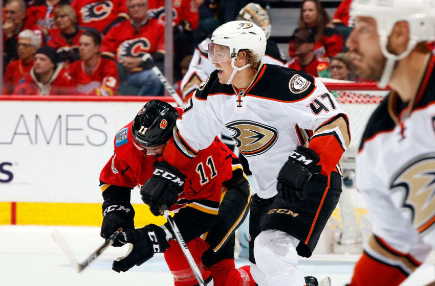 CALGARY, AB - APRIL 17: Hampus Lindholm