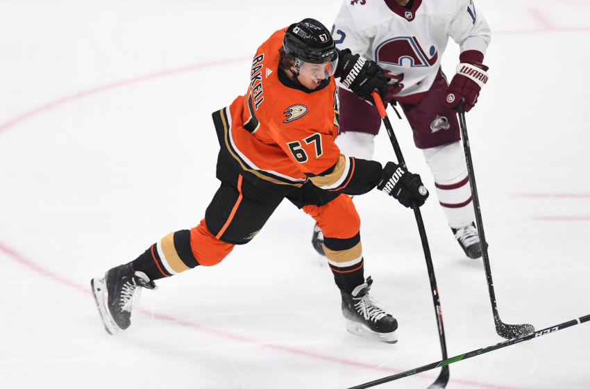 Anaheim Ducks center Rickard Rakell (67) Mandatory Credit: Ron Chenoy-USA TODAY Sports