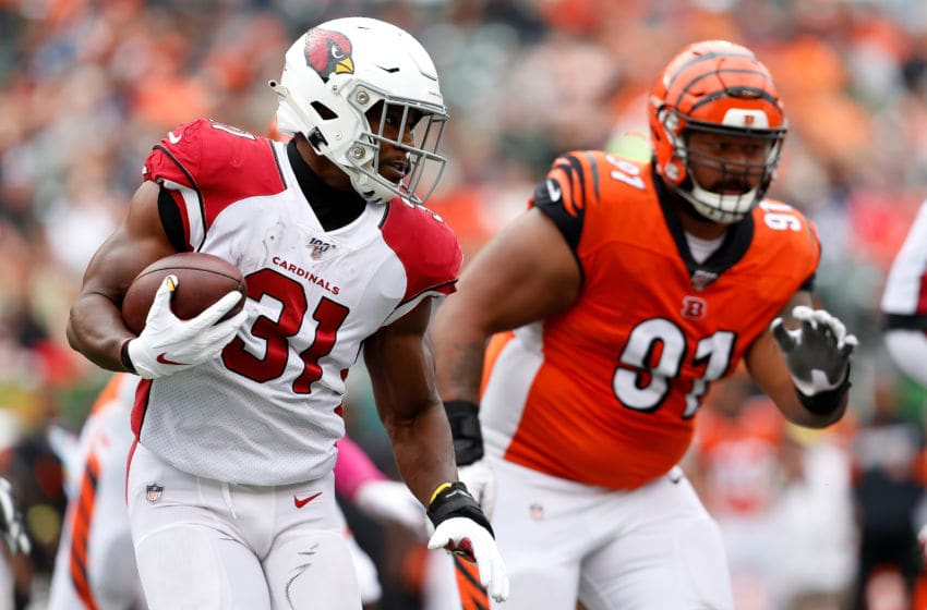 CINCINNATI, OH - OCTOBER 6: David Johnson #31 of the Arizona Cardinals runs with the ball during the game against the Cincinnati Bengals at Paul Brown Stadium on October 6, 2019 in Cincinnati, Ohio. (Photo by Kirk Irwin/Getty Images)